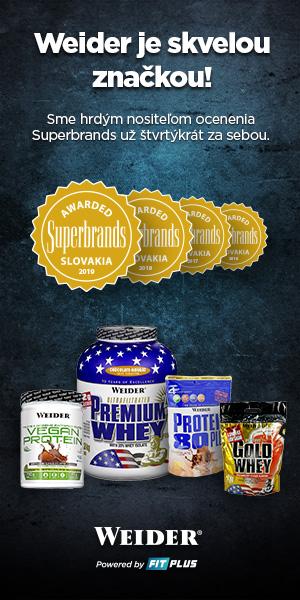 Weider proteíny sú SuperBrands