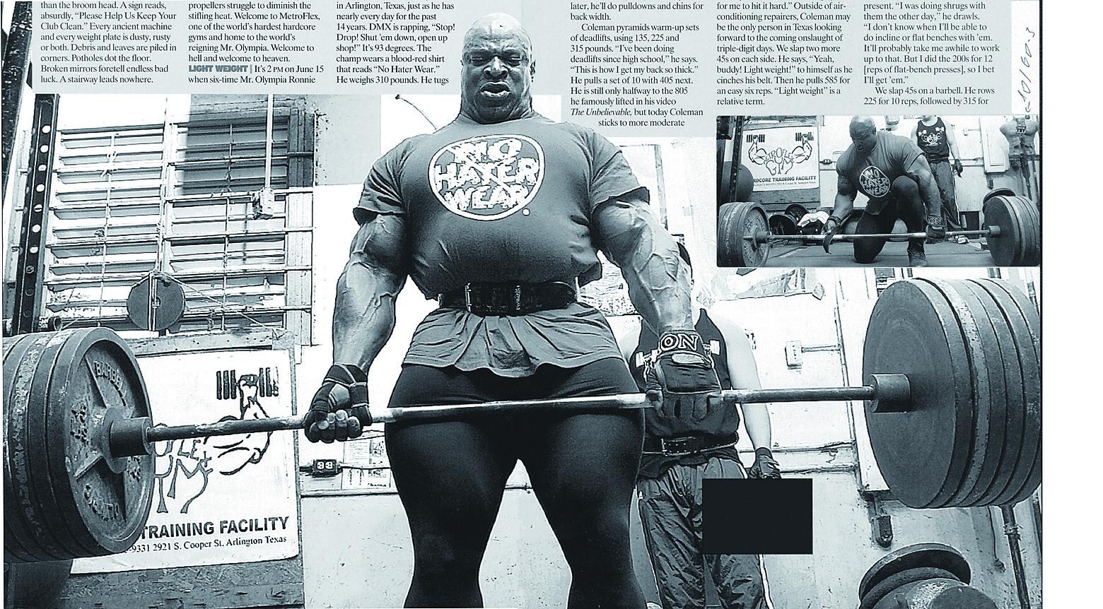Silový bodybuilding  Trénink