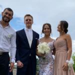 zľava Makhmud, Peter, Timea a Monika